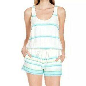 Soft Joie Green Stripe 'Miri' Tank Romper Jumpsuit